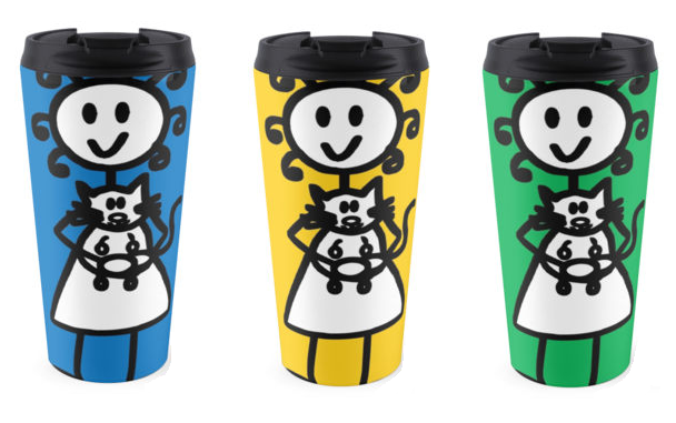 Travel Mugs available here