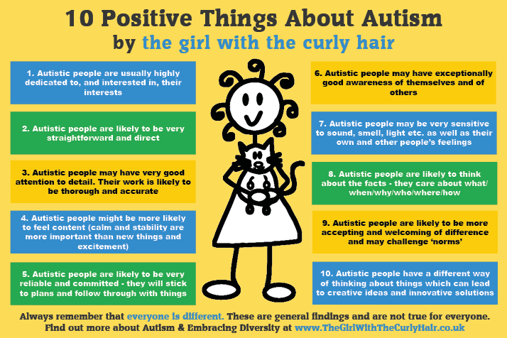 10 Positives Of Autism Autism Awareness The Curly Hair